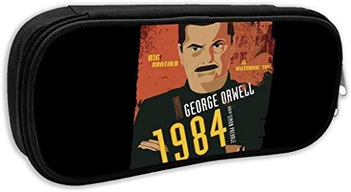 Personalizzato 1984 Audiolibro George Orwell cotone astuccio portapenne sacchetto stazionario custodia per scuola lavoro ufficio