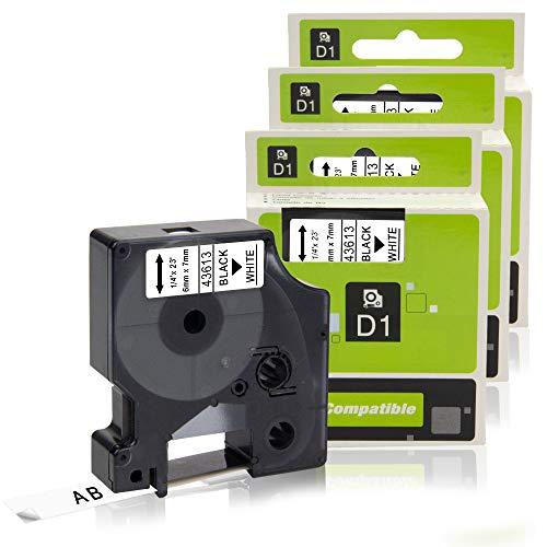 3x Kompatibel für Dymo D1 Schriftband 6mm Dymo 43613 für LM160 420P LP200 LP350