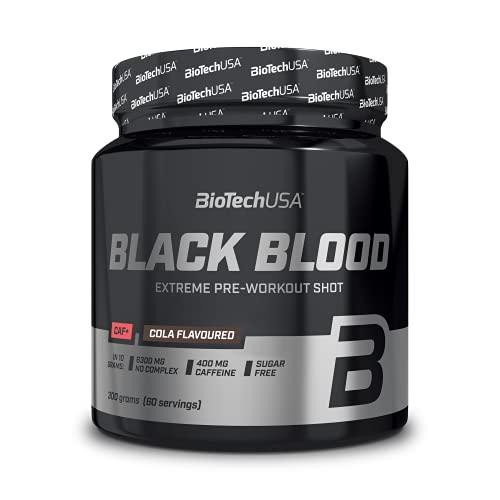 BioTechUSA Black Blood Caf+ Óxidos Nítricos y Energéticos Arándano Azul - 300 gr