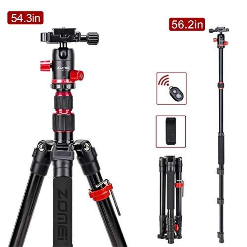 ZOMEI M5 Kompaktes Leichtes Kamerastativ Reisestativ Fotostativ Kamera Aluminium Stativ für Canon Nikon Sony Spiegelreflexkamera