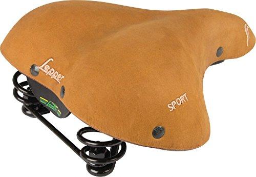 Lepper Fahrrad Sattel Lounger Sport Nubuk Leder Komfort Retro Braun Unisex, 610181