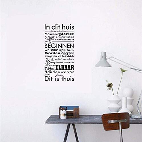 Muurstickers Quotes Nederlandse Stickers Woondecoratie Vinyl Wall Art Voor Room Decor Wanddecoraties Woonkamer 58X112Cm