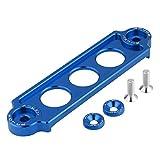 Soporte de batería, carreras de autos Batería, amarre, bloqueo de soporte anodizado para CIVIC/CRX 1988-2000(Azul)