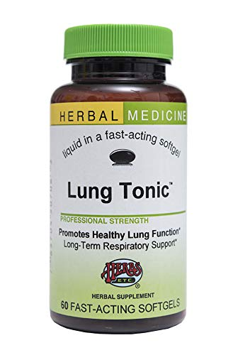 Lung Tonic - Long-term Herbal Respiratory Remedy Supports Lung and Bronchial Health - All-Natural - 60 Softgels (Contains Mullein, Horehound, Elecampane, Grindelia, Echinacea, Pleurisy Root, Osha & Mo