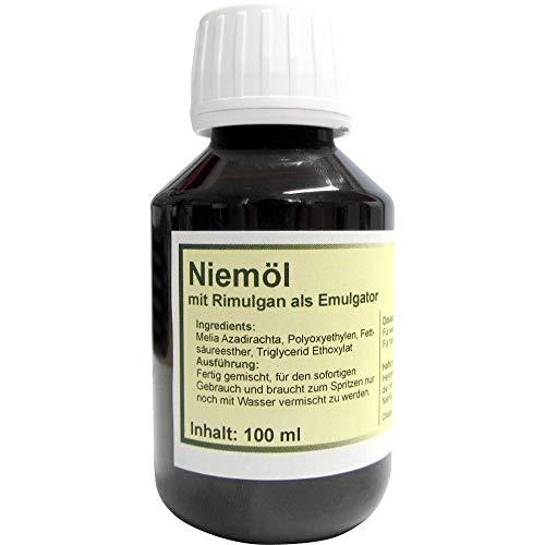Dalimar Niemöl Neemöl mit Rimulgan als Emulgator 100 ml, Neemöl fertig für sofortige Anwendung