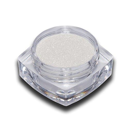 Chrome Effekt Pigment Weiss Glitter Glitzer Puder Nailart