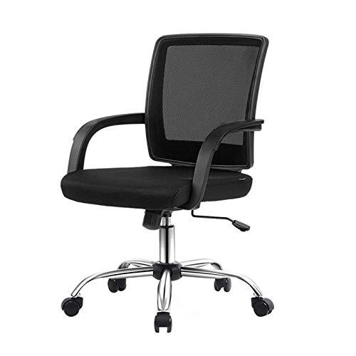 HMBB Sillas de Escritorio, Las sillas de oficina del Ministerio del Interior Silla giratoria media de la espalda lumbar Soporte de escritorio ajustable de tareas del ordenador ergonómico confortable s
