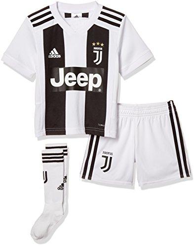 adidas Jungen Mini-heimausrüstung Juve Home Mini, Black/White, 104, CF3495