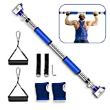 Pullup Bar, Heavy Duty Pull Up Bar for Doorway, Multifunctional Wall Mounted Doorway Pull Up Bar No Screws at Home Gym Equipment Chin up Bar with Locking Mechanism for Men/Women (Blue)
