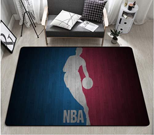 chengcheng NBA Basketball Star Teppich, rutschfeste Teppiche aus Kristall-Samt, kreative dekorative Bodenmatte 160x230cm