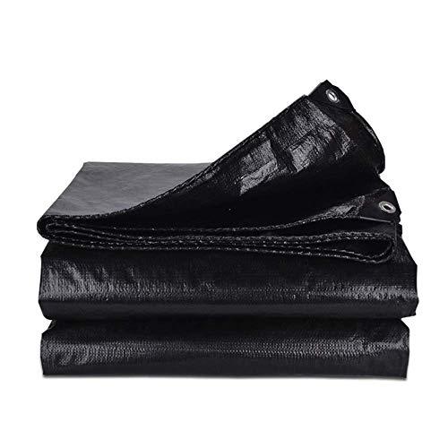 YJTGZ Bâche Bâche Imperméable, Épaissit en Plastique Noir Tissu Anti-Pluie Couvrant Le Camion en Tissu Auvent De Pluie Imperméable À l'eau Solaire Isolé Tissu (Taille: 8m × 10m)