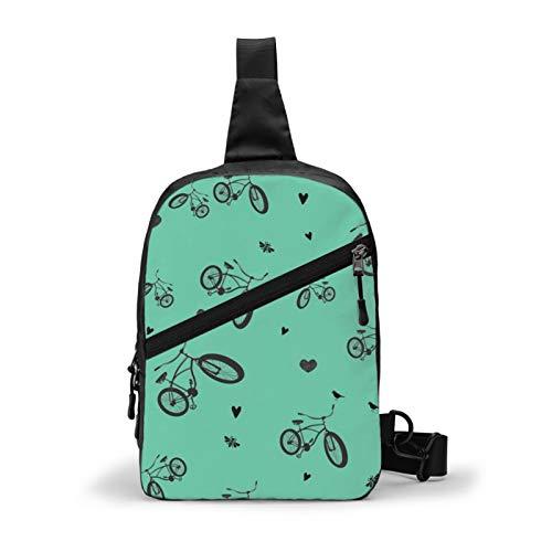 Guan_Collection Bike Love Vintage - Mochila para bicicleta (multipropósito y bandolera para exteriores, bolsa de hombro, para viajes, senderismo, para hombres y mujeres, mochila deportiva casual