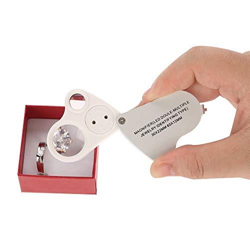 Hoofdband, vergrootglas, vergrootglas, hoofdband, vergrootglas lamp, sieradenvergrootglas met helder LED-licht, ideaal voor het testen van edelstenen, sieraden, munten en postzegels