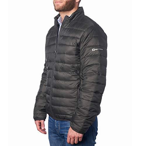 Alpine Swiss Niko Mens Down Alternative Jacket Puffer Coat Packable Warm Insulation & Lightweight GRN LRG Green
