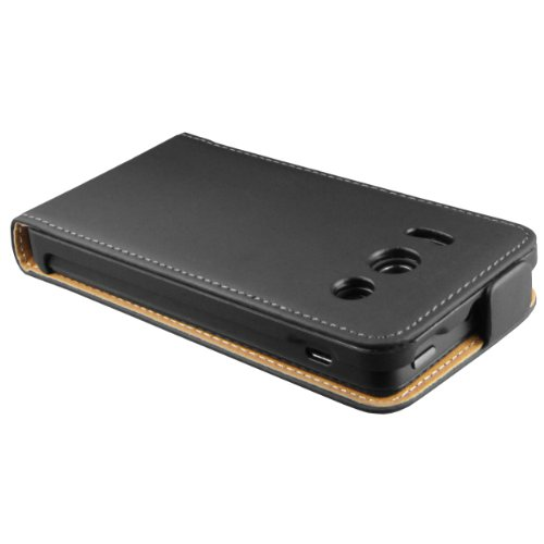 mumbi Tasche Flip Case kompatibel mit Huawei Ascend Y300 Hülle Handytasche Case Wallet, schwarz - 3