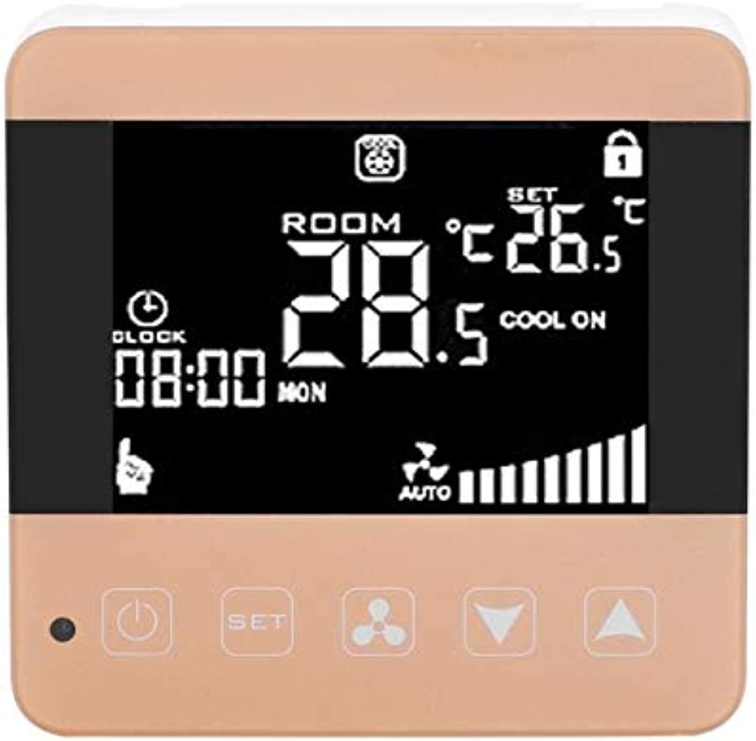 Thermostat Switch Air Conditioning Temperature Controller LCD Digital Intelligent Temperature Controller Thermostat for Central  (color  Switch)