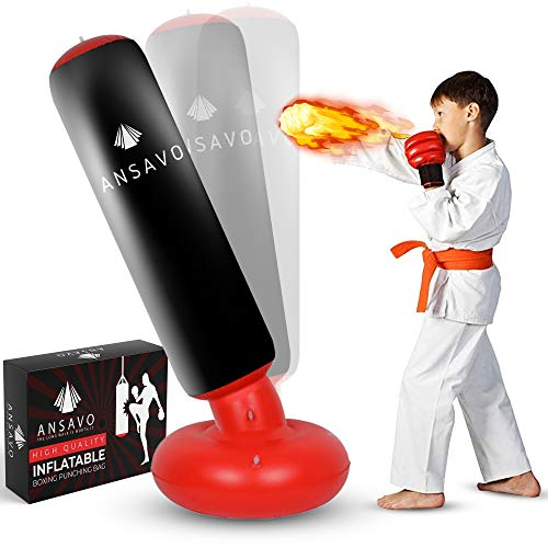 ANSAVO Inflatable Punching Bag for Kids,...