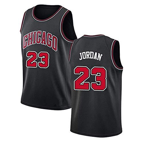LITBIT Baloncesto de los Hombres NBA Jersey Bulls 23# Jordan 2021 Transpirable Secado rápido Resistente al Desgaste sin Mangas de Chaleco para Deportes,Negro,L