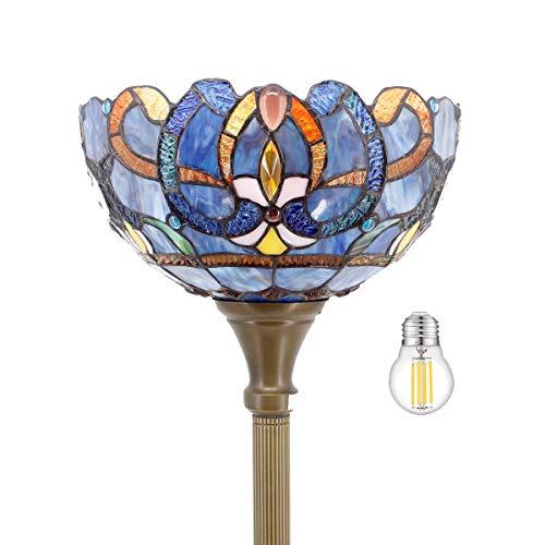 "Tiffany Floor Lamp LED Torchiere Uplight 66"" Tall ..."