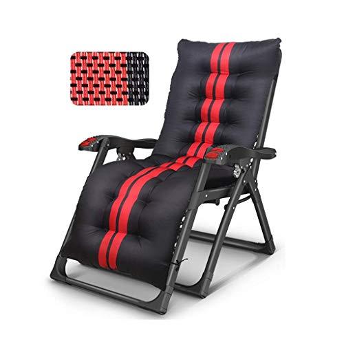 WSDSX Silla reclinable Plegable Sillón reclinable de Gravedad Cero, Tumbona Plegable Ajustable para terraza, Oficina al Aire Libre Sillón reclinable de Playa Extra Ancho Jardín Patio Tumbona Cha