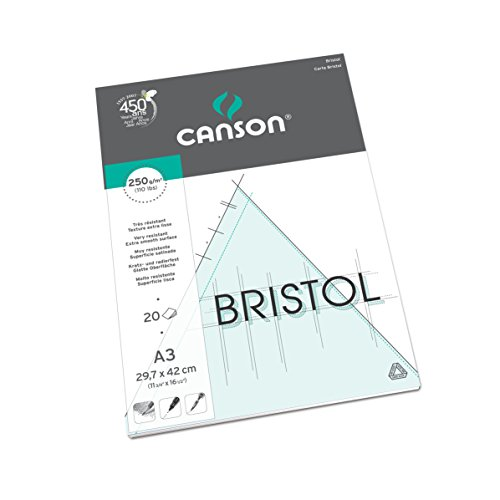 Canson Bristol - Papel de dibujo (A3, 20 hojas)