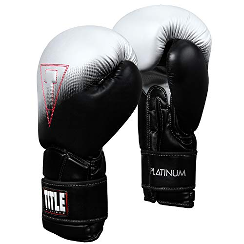 Title Platinum Proclaim Training Gloves, Black/Silver, 16 oz