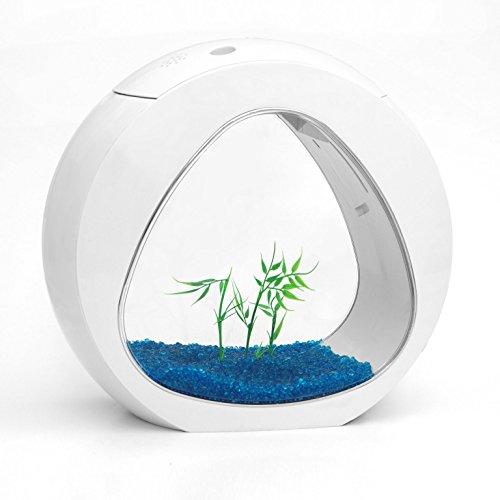 Kleine Nano Curve Aquarium Fisch Tank Kaltwasser Tropical LED Beleuchtung 6L oder 13.5L (6L, Weiß)