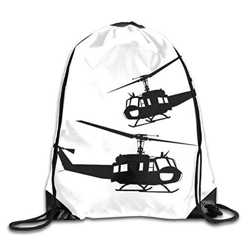 HRTSHRTE Helicopter Drawstring Backpacks Sport Leisure Bundle Backpack Beam Backpack Sport Gym Travelling Bag