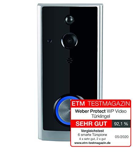 Weber Protect Video Türklingel, WLAN Türsprechanlage inkl. Wireless Klingel mit App Steuerung. Gegensprechanlage, Bewegungserkennung, Nachtsicht, 1080p Full HD Auflösung.