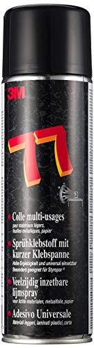 3M Scotch-Weld Sprühklebstoff 77 – Aerosol-Klebstoff mit kurzer Ablüftzeit und langer Klebespanne für dauerhaften Halt – 500ml – Beige
