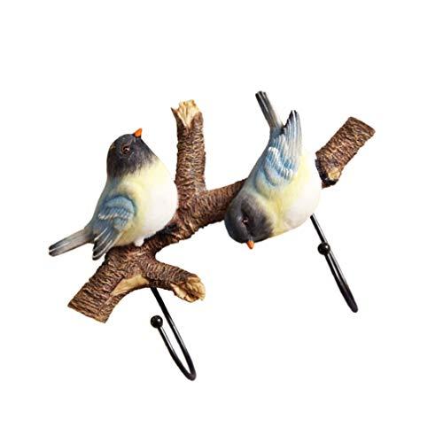 WINOMO Uccello Cremagliera della Parete della Parete del Metallo Ganci Uccelli sul Ramo di Albero della Parete Appendini Chiave Vestiti del Cappotto del Cappello Sciarpa Gancio per Porta