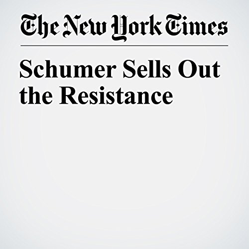 Schumer Sells Out the Resistance copertina