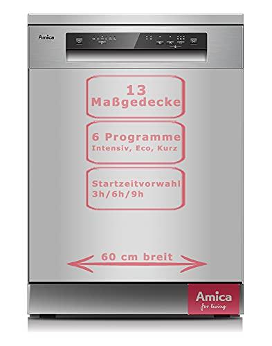 Amica GSP 543 910 Si Stand-Geschirrspüler - 60 cm, Silber, A++