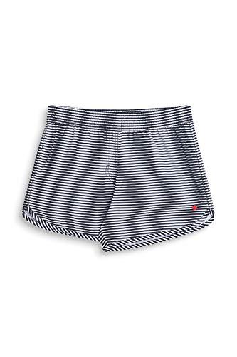ESPRIT Mädchen BASICSTRIPE Beach YGsurf Shorts Badeshorts, Blau (Navy 400), 140 (Herstellergröße: 140/146)