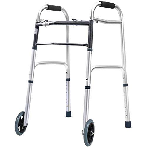 ANZRY Práctico Andador Plegable con Ruedas Delanteras Andador para Adultos Mayores para Interior Exterior Ajustable Ligero Portátil