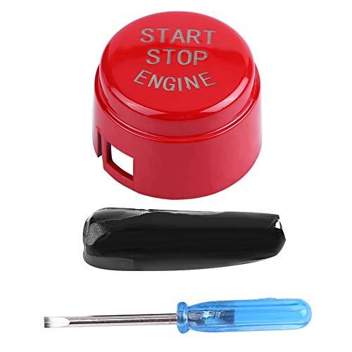 Oubit Botón de Arranque y Parada del Motor: botón de Arranque de un botón del Motor del automóvil para la Parte Inferior del Disco F30 3 Serie F sin Arranque y Parada(Rojo)