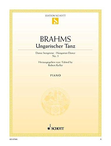 Ungarischer Tanz Nr. 5 fis-Moll: (erleichterte Ausgabe). Klavier. (Edition Schott Einzelausgabe)