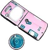 Hülle für Motorola RAZR 5G Flip Phone, ultraflaches, stoßfestes Silikon-TPU mit rückseitiger Schutzhülle & Halterungsabdeckung (D)