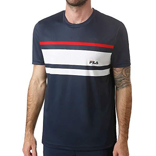 Fila heren Trey T-shirt donkerblauw, wit, 3XL bovenkleding