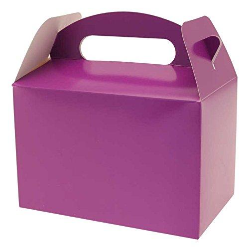 Henbrandt Couleur Unie Violet fête Boîtes 6pk