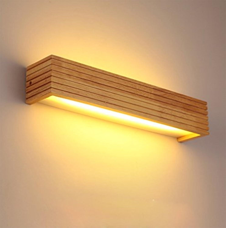 Kreative Led Solide Holz Wandleuchte,Rechteckige Schlafzimmer Bett Beleuchtung