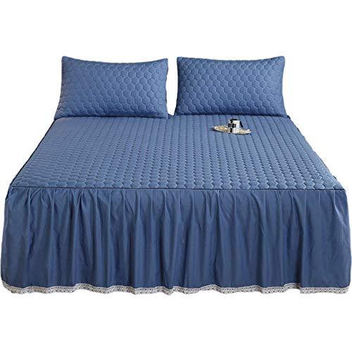 Sábanas y fundas de almohada de algodón grueso de tres capas para colchón de algodón para todo el año, 2 fundas de almohada, 4 tamaños a elegir.