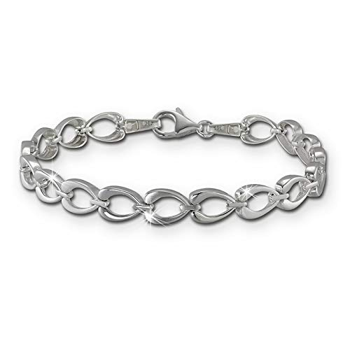 SilberDream Bracciale da donna in argento 925 con cuore SDA446J