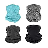 TOP yoth Face Mask Neck Gaiter, Cycling Mask 4Pcs Sports Scarf, Headband for Women And Men's