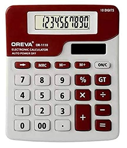 Oreva 10 Digit Solar & Battery Cal-C