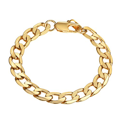 PROSTEEL Mens Bracelet Gold Chain Link Stainless Steel Male Chunky Jewelry