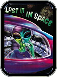 """Stash Tins Lost in Space Storage Container 4.37"""" L x 3.5"""" W x 1"""" H"""