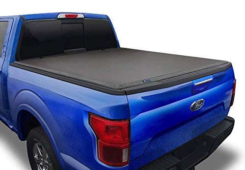Tyger Auto Black (Soft Top) T3 Tri-Fold Truck Tonneau Cover TG-BC3F1019 works with 2009-2014 Ford F-150 (Excl. Raptor Series) | Styleside 5.5' Bed | For models without Utility Track System, 5.5' Bed (Soft Top)