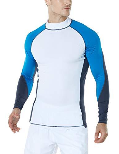 TSLA Camiseta de natación para hombre con protección UPF 50+ de manga...