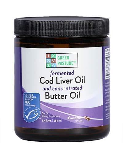 Green Pasture Blue Ice Royal Butter Oil/Fermented Cod Liver Oil Blend - Cinnamon Gel - 6.4 fl.oz